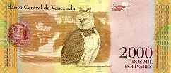 Венесуэла: 2000 боливаров 2016-17 г.
