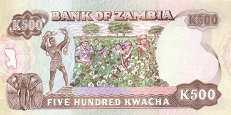 Замбия: 500 квачей (1991 г.)