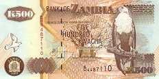 Замбия: 500 квачей 1992-2003 г.