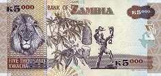 Замбия: 5000 квачей 2003-12 г.