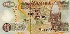 Замбия: 500 квачей 2003-11 г.