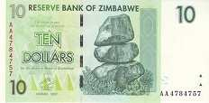 Зимбабве: 10 долларов 2007 г.