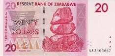 Зимбабве: 20 долларов 2007 г.
