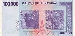 Зимбабве: 100000 долларов 2008 г.