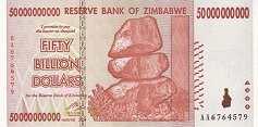 Зимбабве: 50 миллиардов долларов 2008 г.