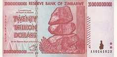 Зимбабве: 20 триллионов долларов 2008 г.