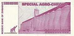 Зимбабве: 5 миллиардов долларов 2008 г. (чек)