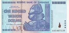 Зимбабве: 100 триллионов долларов 2008 г.