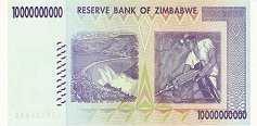 Зимбабве: 10 миллиардов долларов 2008 г.