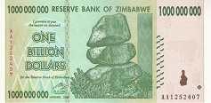 Зимбабве: 1 миллиард долларов 2008 г.