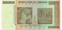 Зимбабве: 20 миллиардов долларов 2008 г.