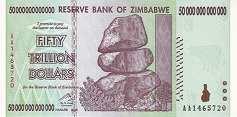 Зимбабве: 50 триллионов долларов 2008 г.